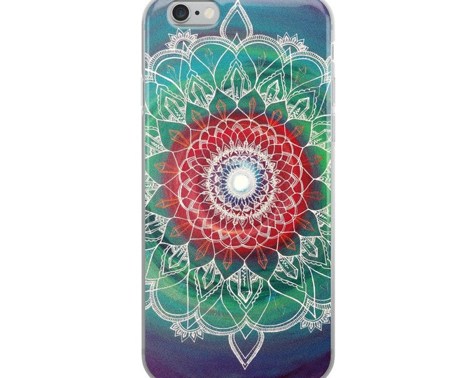 Frequency Portal Mandala iPhone Case | Intuitive Freehand Crystal Painting Art Print