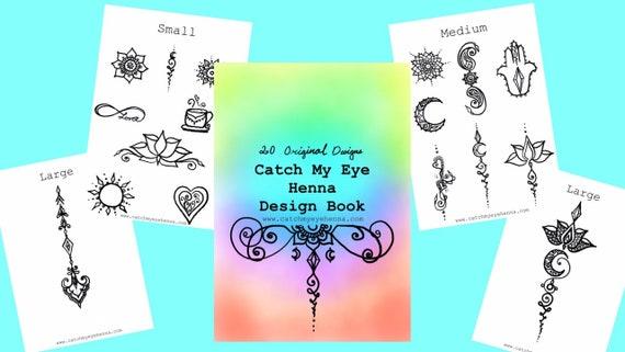 Henna Design Digital eBook   20 Original Freehand Mandala & Henna Designs   Learn Natural Henna Body Art   Catch My Eye Printable Book