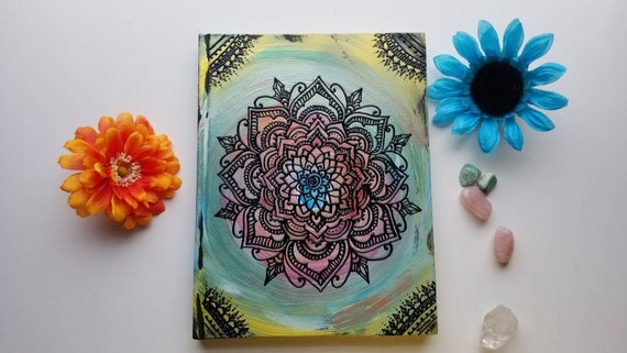 """Curiosity & Wonder Intention Mandala 8.5x11 """" 110 pg Sketchbook 