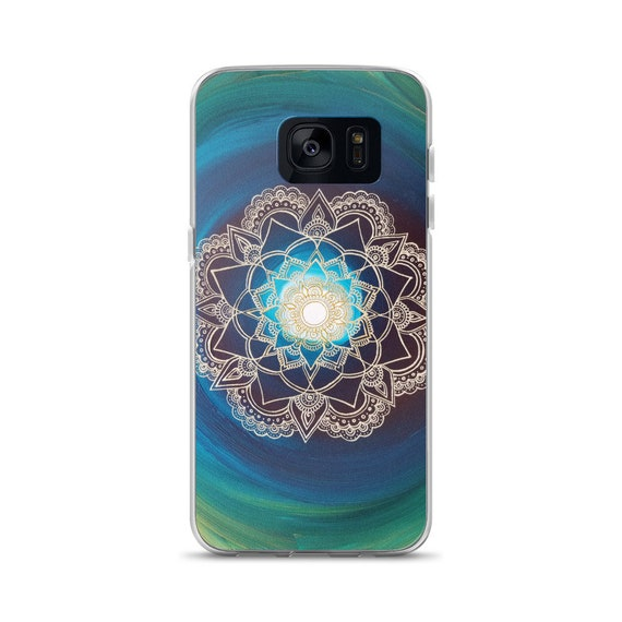 Portal Mandala Samsung Phone Case | Reiki Energy Artwork | Freehand Acrylic Painting Print | Intuitive & Intentional artist