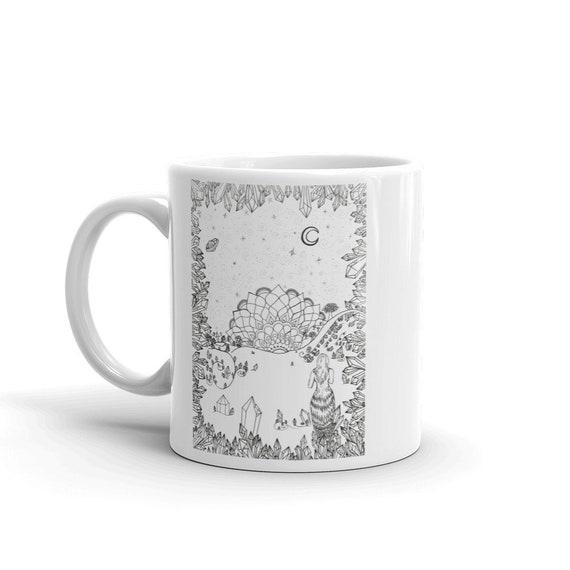 Leaving the Crystal Cave / Follow Where the Crystals Lead You Art Mug