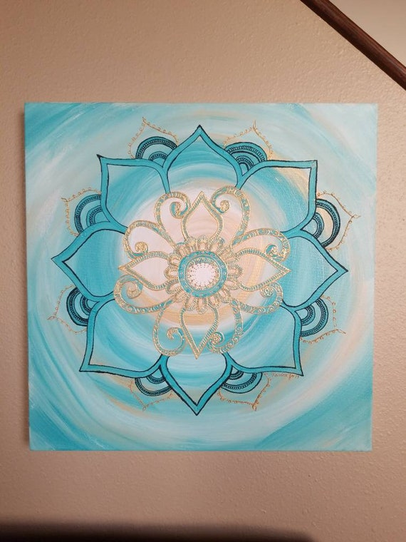 """Empowered Mandala 20x20"""" Original Painting 