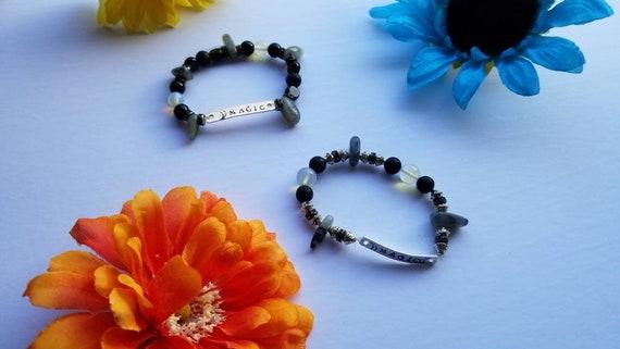 MAGIC | Labradorite Handmade Bracelet | Reiki Blessed Hand Stamped Crystal Jewelry