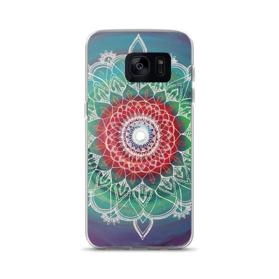 Frequency Portal Mandala Samsung Phone Case | Intuitive Freehand Crystal Painting Art Print