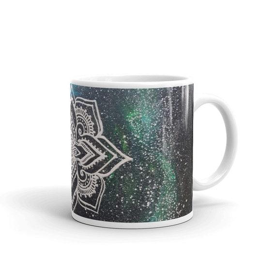 Galaxy Mandala Mug * Intuitive Intention Mandala Coffee Cup