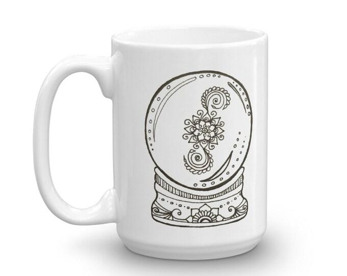 Crystal Ball Time to Wake Up Mug * Art Print Coffee Cup