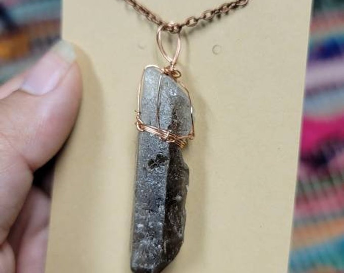 Smoky Quartz Crystal Necklace   Root Chakra  Grounding & Detoxifying Intention   Hand Wrapped and Reiki Blessed Jewelry