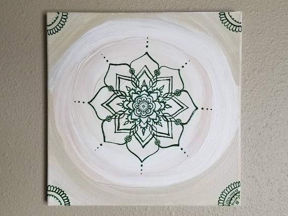 Heart Chakra Mandala   Intention Mandala Series   Reiki Charged Acrylic Painting   Home Decor   Sacred Space Art