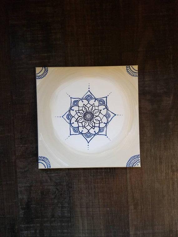 Third Eye Chakra Mandala | Intention Mandala Series | Reiki Charged Acrylic Painting | Home Decor | Sacred Space Art