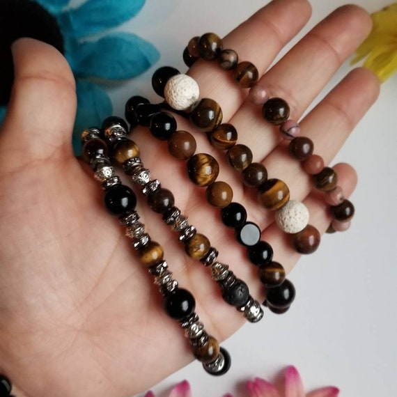 Tiger's Eye Sacral & Solar Plexus Chakras Bracelets | Reiki Blessed Handmade Jewelry | Energy Balance and Healing Accessories | Protection