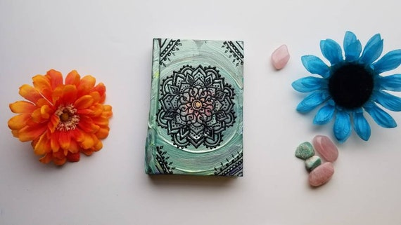 """Heart Magic Intention Mandala Sketchbook 