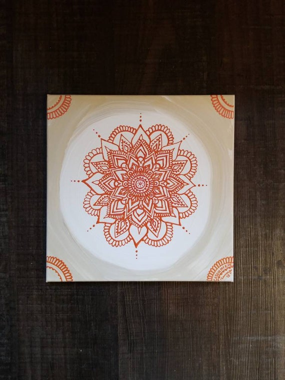 Sacral Chakra Mandala | Intention Mandala Series | Reiki Charged Acrylic Painting | Home Decor | Sacred Space Art