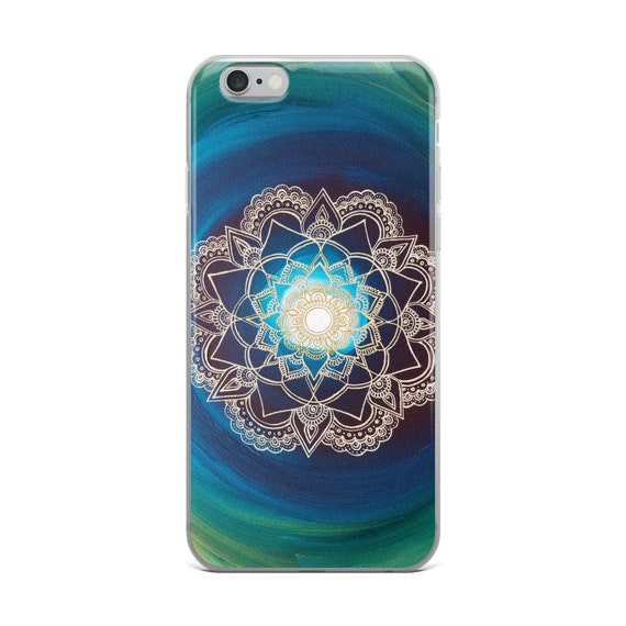 Portal Mandala iPhone Case | Reiki Energy Artwork | Freehand Painting Print | Intuitive Artist