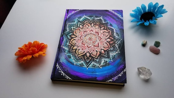 """Balance Chakra Intention Mandala 8.5 x 11"""" 110 pg Sketchbook 