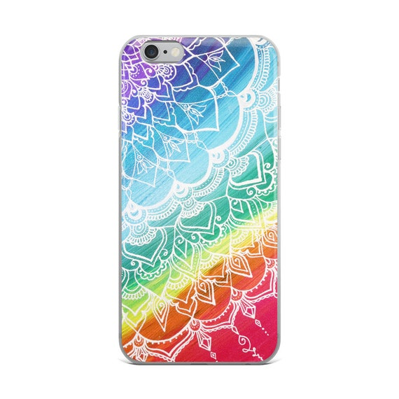 Chakra Swirl Mandala iPhone Case * Intuitive Intention Mandala Rainbow Phone Protector