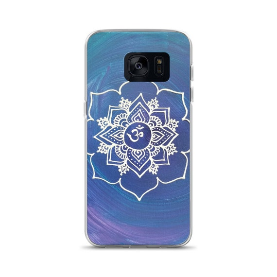 Crown Chakra Intention Mandala Samsung phone Case | Reiki Energy Artwork Print | Intuitive Freehand Artist | 7th Chakra