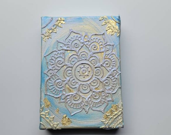 "Dive | 5x7"" Acrylic Painting | Reiki Art"