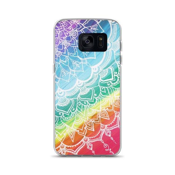 Chakra Swirl Mandala Samsung Case * Intuitive Intention Mandala Rainbow Phone Case