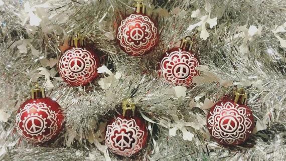 Custom Mini Hand-Painted Mandala Holiday Ornaments| Handmade Gift | Freehand Painted Decor | Custom Christmas Tree idea | Acrylic Mandala