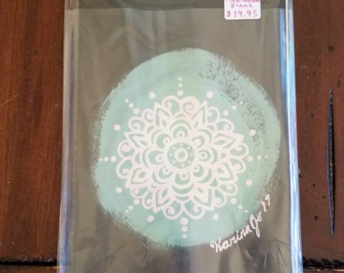 "Heart Communication Mandala  | 80 Page Blank Moleskine Journal | 5×8 1/4"" | Unique Henna Inspired Artwork Gift"