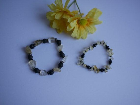 Citrine, Lava Rock, Hematite  Bracelets | Reiki Blessed Handmade Jewelry | Energy Balance and Healing Accessories |