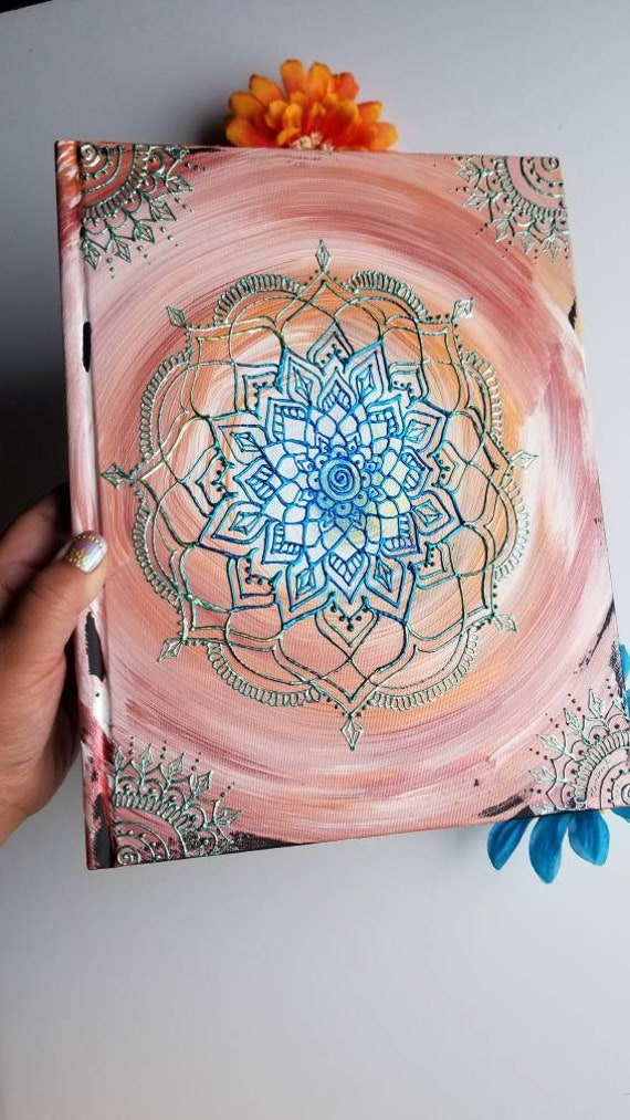 """Clear Communication 8.5x11"""" 110 pg Intention Mandala Sketchbook 