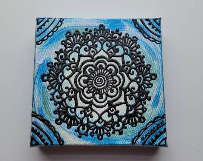 "Discern | 6x6"" Acrylic Painting | Reiki Art"