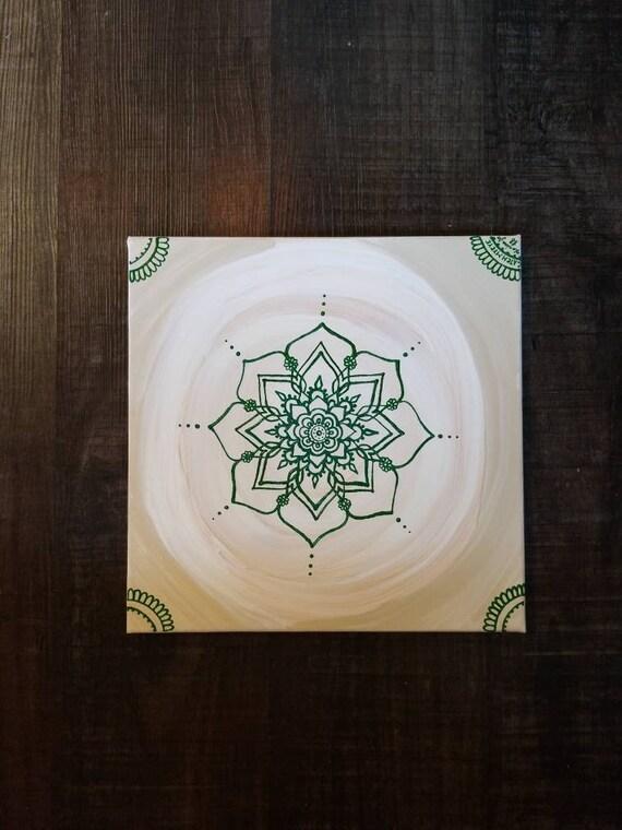 Heart Chakra Mandala | Intention Mandala Series | Reiki Charged Acrylic Painting | Home Decor | Sacred Space Art