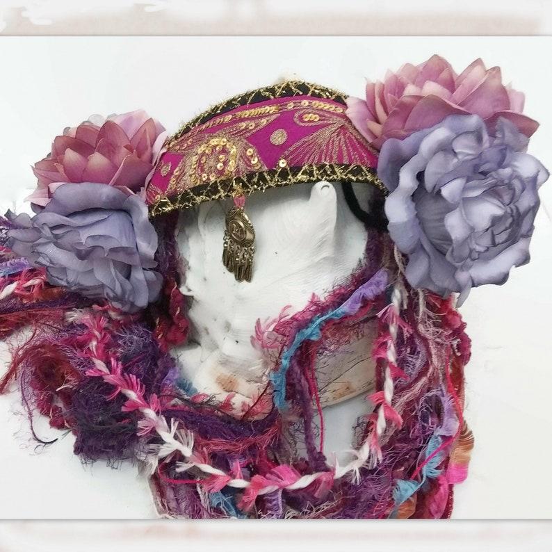 Flowers  Fairy Headpiece Tribal Fusion Headdress Festival Headpiece for Women