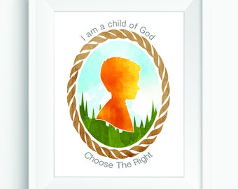 LDS Primary Printable: I am a child of God/Choose The Right - Instant Download