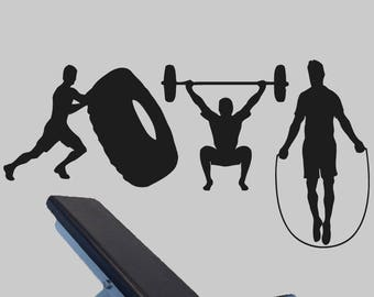 Crossfit wall decal etsy