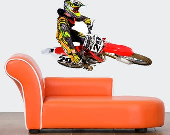 Dirt bike wall decal Etsy
