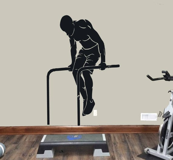 Street workout wall decal athlete gymnastic wall sticker etsy