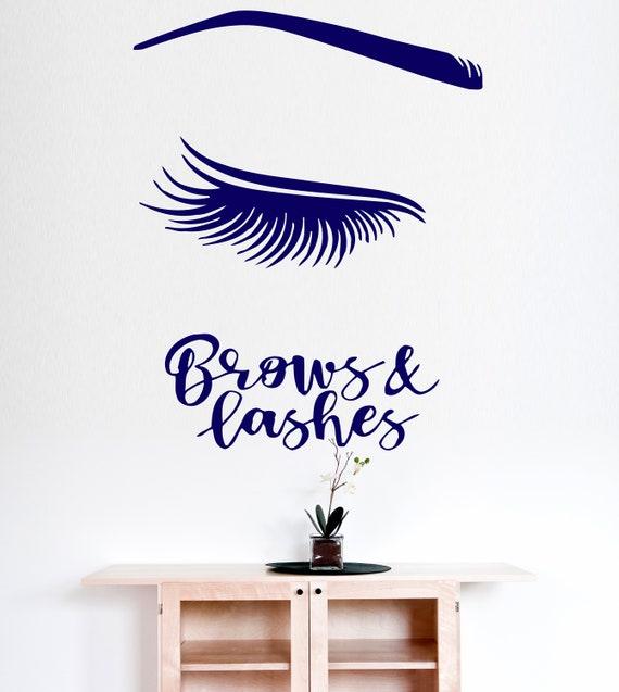 eyelash extension wall decals eyelash decor lash decor | etsy