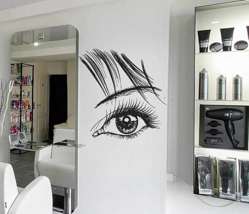 eyelash wall decal eyelash sticker eyelash eyebrows wall | etsy