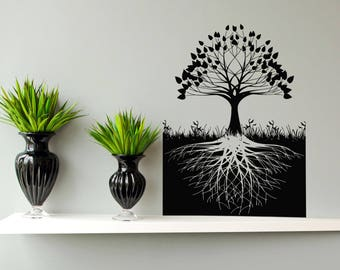 Tree Of Life Wall Decal, Tree Of Life Wall Sticker, Celtic Inspired Tree Of