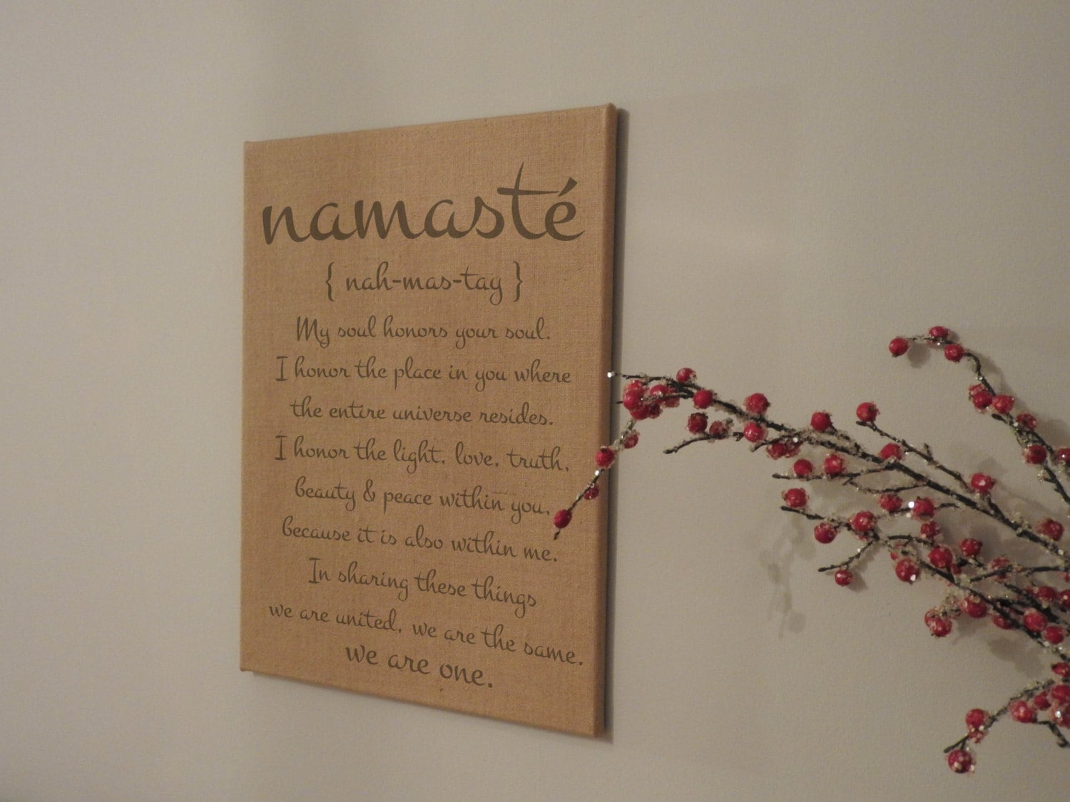 Second Anniversary Wedding Gift: Second Anniversary Gift Namaste Anniversary Gift Wedding