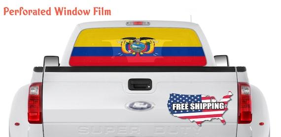 Decal sticker flag exterior vinyl car motorrad ecuador ecuadorian