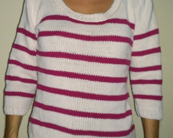 cotton handknitted sweater size small 38/40