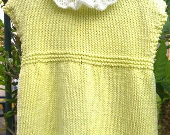 little baby girl dress lemon 3-6 month