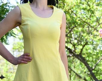 Vintage 60s Yellow Sundress