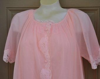2edf693693 Vintage Lingerie Set Nightgown   Robe By Lorraine Lingerie 1950s Size Medium