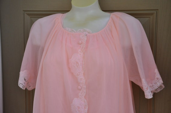 Vintage Lingerie Set Nightgown & Robe By Lorraine