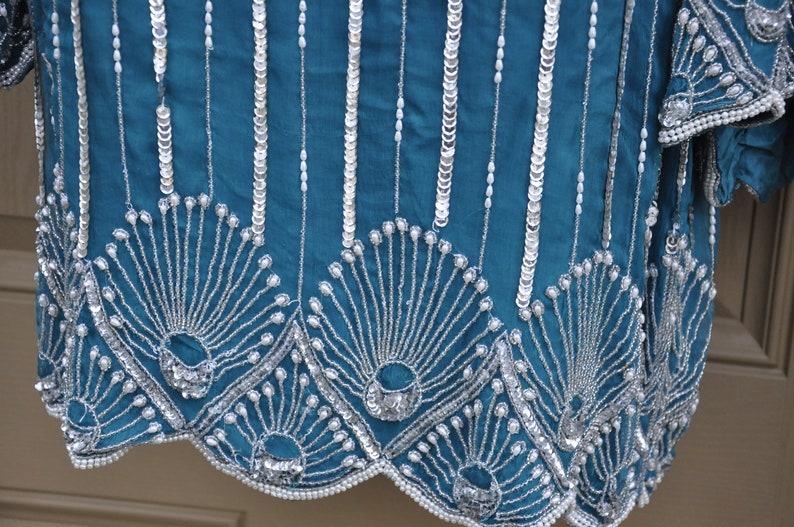 Vintage Sequin /& Beaded Top By Royal Feelings  Deadstock NWT  Size  Medium