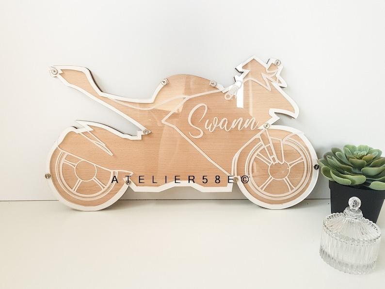 Livre d'or moto pour baptême anniversaire - Créateur ETSY : Atelier58E