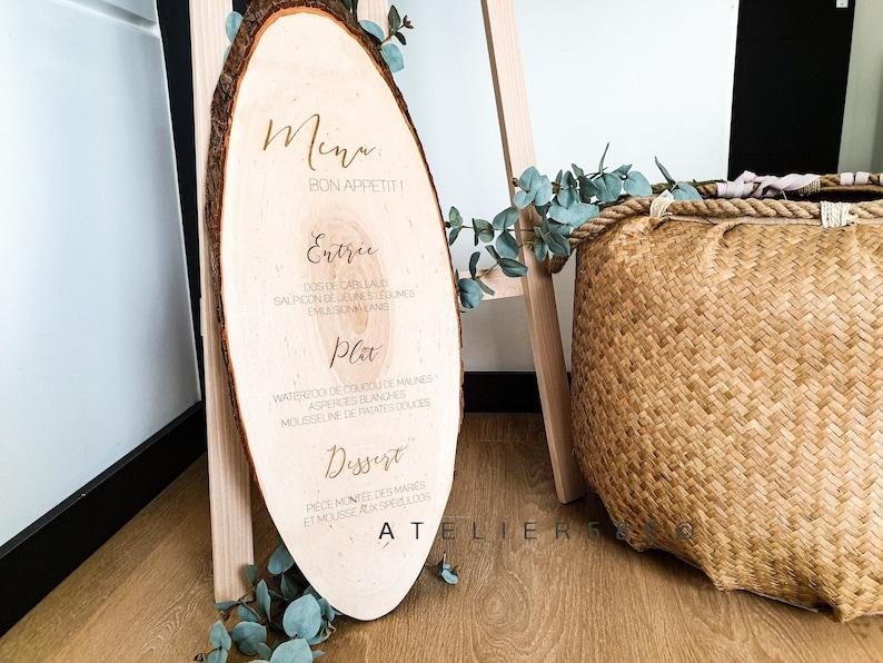 Wedding Wood Slices Bohemian Personalized Decor Menu 8w0yvOmNn