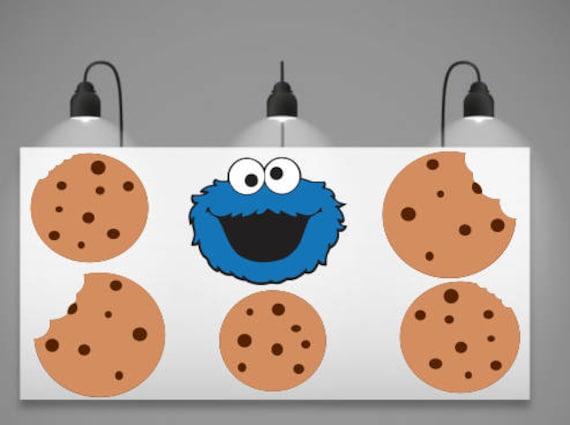 Cookie Monster Svg Cookie Monster Banner Cookie Monster And Cookie Banner Svg Cricut Cut File Silhouette Cameo Digital Download