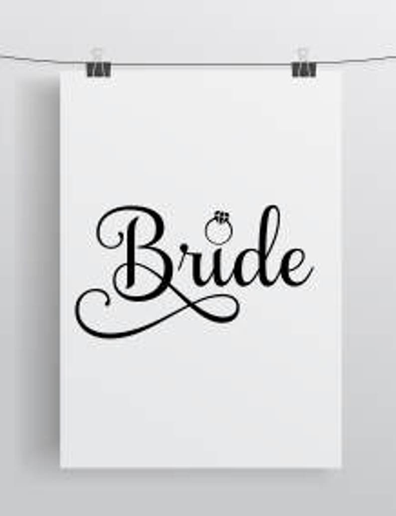 Bride with ring SVG file