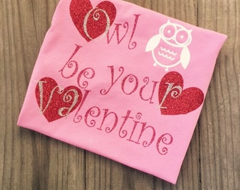 Owl be your valentine longsleeve girls shirt~