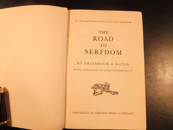 The Road To Serfdom By Friedrich Hayek Forth Impression Etsy